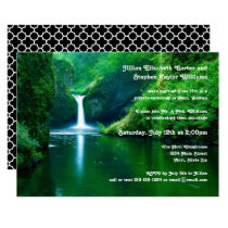 Waterfall Landscape Photo - Wedding Announcement