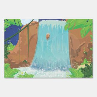 Waterfall Lawn Sign
