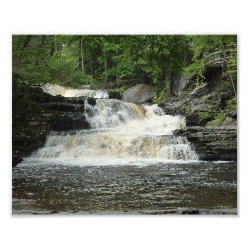 Waterfall Layers Photo Art Zazzle
