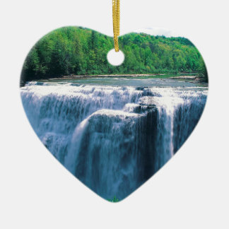 Waterfall Letchworth State Park New York Ceramic Ornament