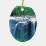 Waterfall Letchworth State Park New York Ceramic Ornament