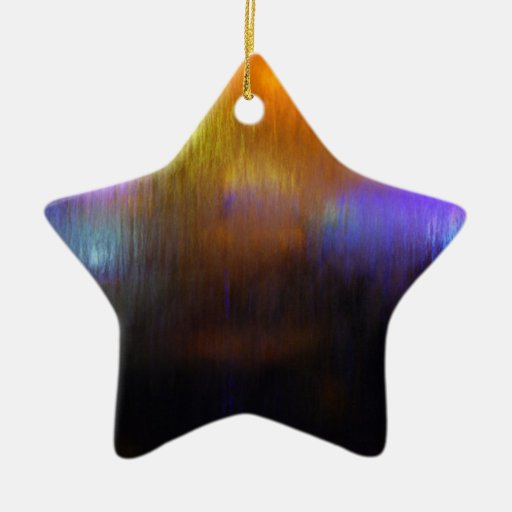 Waterfall Lights Double-Sided Star Ceramic Christmas Ornament