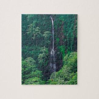 Waterfall Lush Costa Rican Jigsaw Puzzles