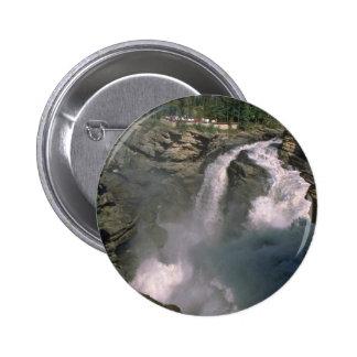 Waterfall Making A Rainbow Pinback Button