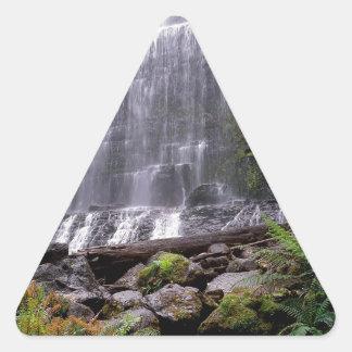 Waterfall Mount Field Park Tasmania Australia Triangle Sticker