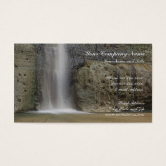 Waterfall Nature Business Card