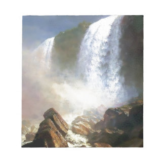 Waterfall Nature painting Memo Pad
