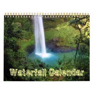 Waterfall Nature Water Office Peace Love Destiny Calendar
