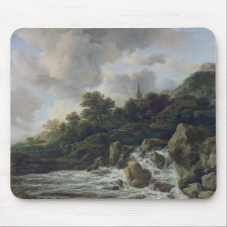 Waterfall Near a Village, c.1665-70 Mouse Pad