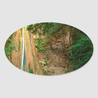 Waterfall Nojoqui Santa Barbara County Oval Sticker
