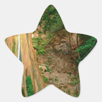 Waterfall Nojoqui Santa Barbara County Star Sticker