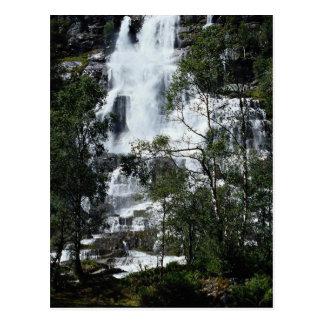 Waterfall, Norway Postcard