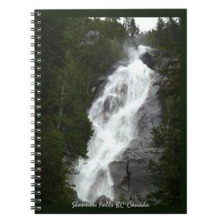 Waterfall Notebook Shannon Falls BC Souvenir