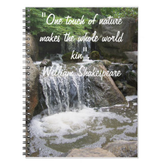 Waterfall Notebook With Nature Quote