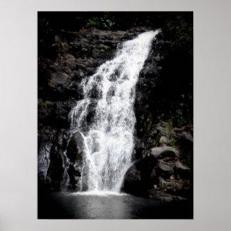 Waterfall, Oahu Poster