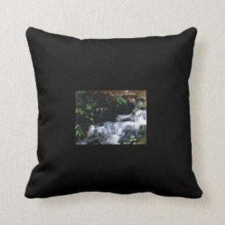 Waterfall Of Big Snowbird Throw Pillow