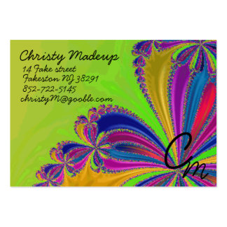 waterfall of ribbon large business card