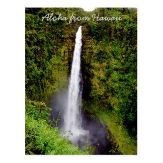 Waterfall on Big Island of Hawaii Postcard