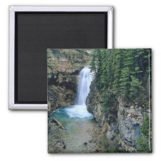 Waterfall on Falls Creek in Lewis and Clark 2 Inch Square Magnet
