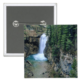 Waterfall on Falls Creek in Lewis and Clark Pinback Button