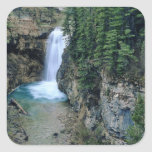 Waterfall on Falls Creek in Lewis and Clark Square Sticker