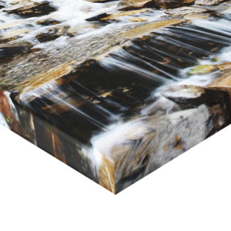 Waterfall on Premium Wrapped Canvas Stretched Canvas Print