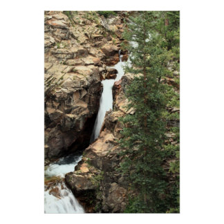 Waterfall on the Gothic Trail, Gunnison, Colorado Poster