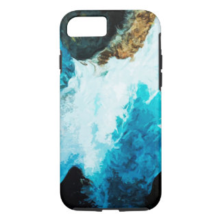 Waterfall On the Road to Hana Maui Abstract iPhone 7 Case