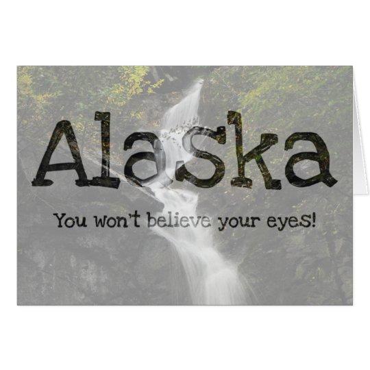 Waterfall on the Rocks; Alaska Souvenir Card
