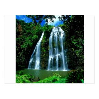 Waterfall Opaekaa Kauai Hawaii Postcard