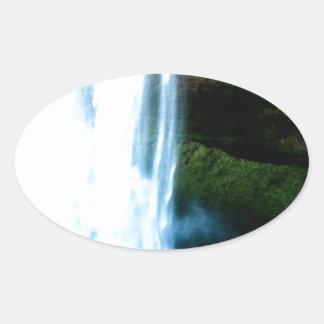 Waterfall Oval Sticker