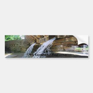 Waterfall over a bridge bumper sticker