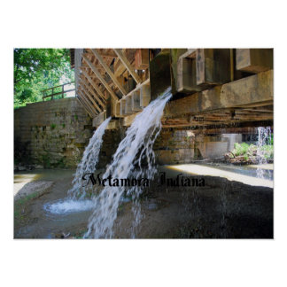 Waterfall over a bridge posters