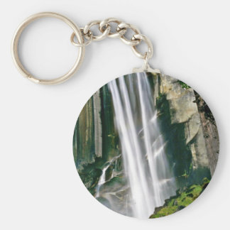 Waterfall Over Rock Cliffs Keychain