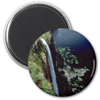 Waterfall over the cliffs of the Isle of Skye, Sco 2 Inch Round Magnet