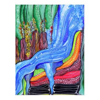 Waterfall Painting Postcard