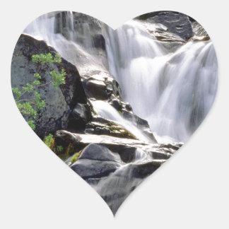 Waterfall Paradise Mount Rainier Park Heart Sticker