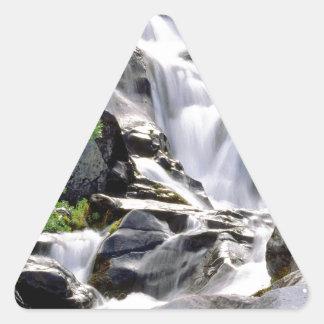 Waterfall Paradise Mount Rainier Park Triangle Sticker