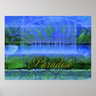 Waterfall Paradise Poster