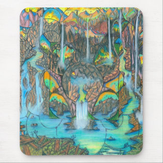 Waterfall Paradise Richesons 75 Mouse Pad