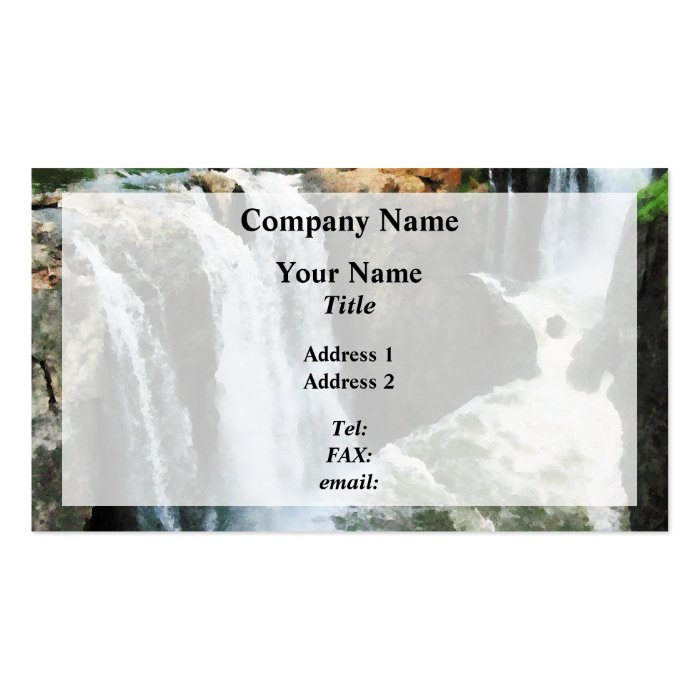Waterfall Paterson NJ Business Card