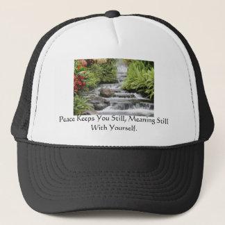 Waterfall, Peace Keeps You Still, Meaning Still... Trucker Hat