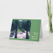 Waterfall Personalized Note Cards - Large card