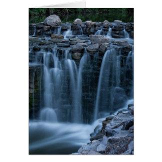 Waterfall Photo greeting card