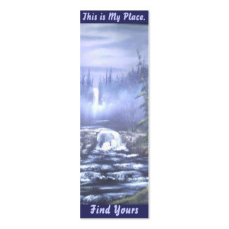 Waterfall Place Bookmark 2 Double-Sided Mini Business Cards (Pack Of 20)