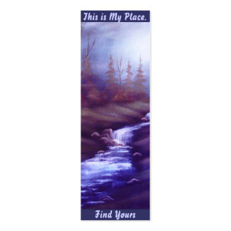 Waterfall Place Bookmark Double-Sided Mini Business Cards (Pack Of 20)