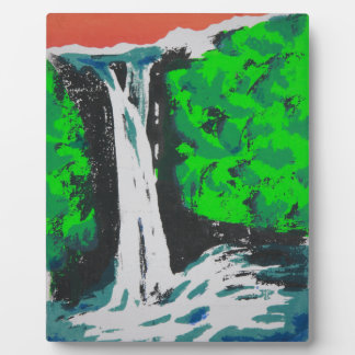 Waterfall Plaque