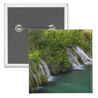 Waterfall Plitvice Lakes National Park and Pinback Button
