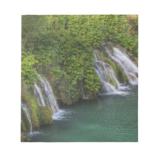 Waterfall, Plitvice Lakes National Park and Notepad