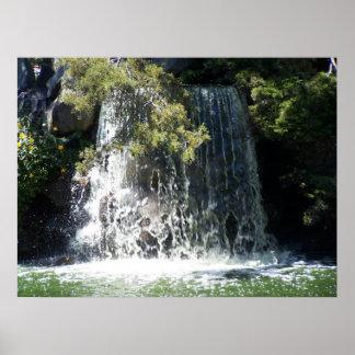Waterfall - Point Defiance Park, Tacoma Washington Poster